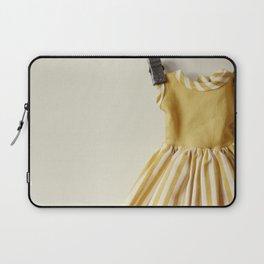 Doll Closet Series - Mustard Stripe Dress Laptop Sleeve