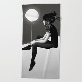No Such Thing As Nothing (By Night) Beach Towel