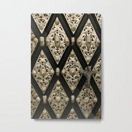 Old Door Ornament Metal Print