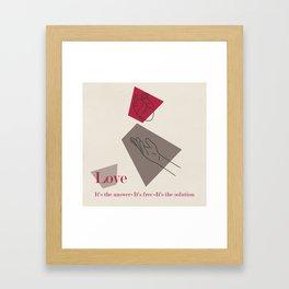 Love: Classic Framed Art Print