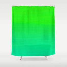Lime Green and Sea Foam Green Ombre Shower Curtain