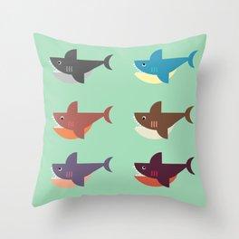 Snarky Sharky Throw Pillow