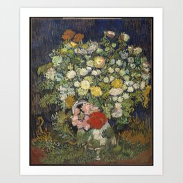 Bouquet of Flowers in a Vase Art Print