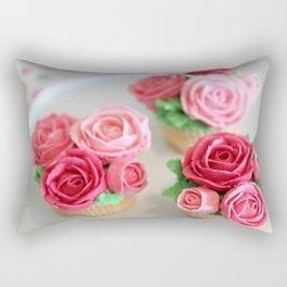 Cupcake Roses Rectangular Pillow