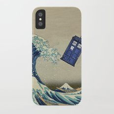 The Great Wave Doctor Who iPhone X Slim Case