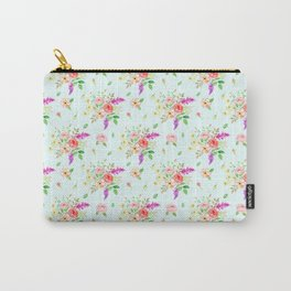 Watercolor Rose pattern Carry-All Pouch