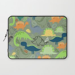 Dinosaurs jungle pattern Laptop Sleeve