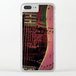 PINK GUITARS Clear iPhone Case