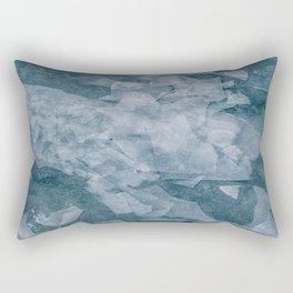 Sharp Blue Terrain Rectangular Pillow