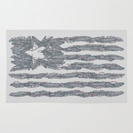 America Feather Flag Rug