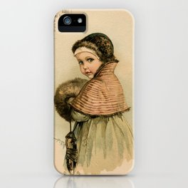 Scandinavian Girl Maud Humphrey iPhone Case