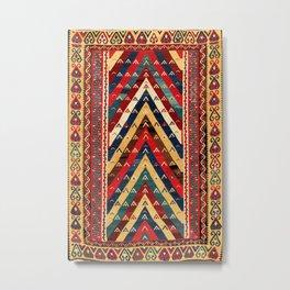 Kurdish Azerbaijan Northwest Persian Niche Kilim Print Metal Print