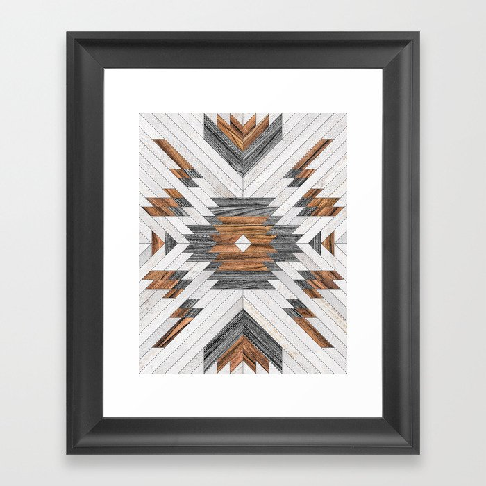 Urban Tribal Pattern No.8 - Aztec - Wood Gerahmter Kunstdruck