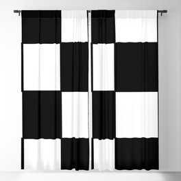 Checkered,black and white checked pattern.Gingham. Blackout Curtain