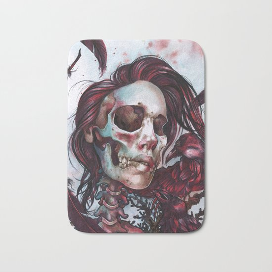 Queen of Ravens Bath Mat