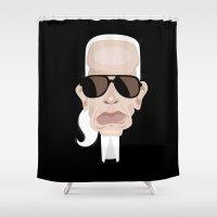 karl Shower Curtains featuring Karl Lagarfeld by vainuidecastelbajac