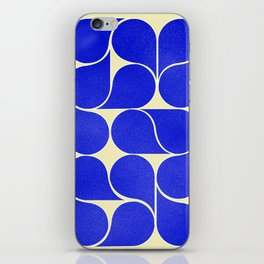 Blue mid-century shapes no8 iPhone Skin