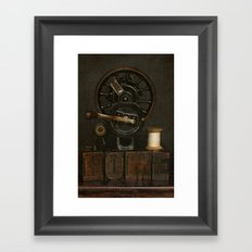 Home and Vintage Sewing Machine Framed Art Print