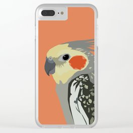 Marcus the cockatiel Clear iPhone Case