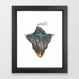 Salt + Fire Framed Art Print