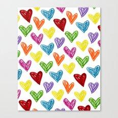 Hearts Parade Canvas Print