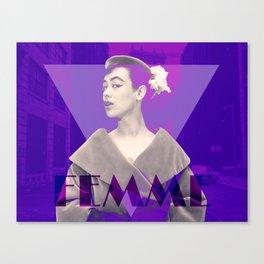 Femme Violette Canvas Print