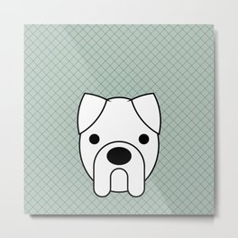 Pop Dog Boxer Metal Print