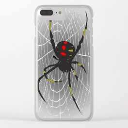 Black Widow Clear iPhone Case