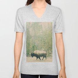bison I Unisex V-Neck