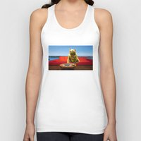 bleach Tank Tops featuring Bleach Blonde Bear by Bemular