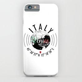 Venice, ITALY Road Map Art - Earth Tones iPhone Case