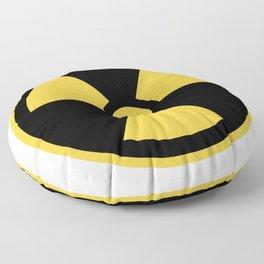 Nuclear Logo Symbol Floor Pillow
