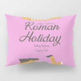 Roman Holiday, Audrey Hepburn,movie poster, Gregory Peck, William Wyler, romantic hollywood film Pillow Sham