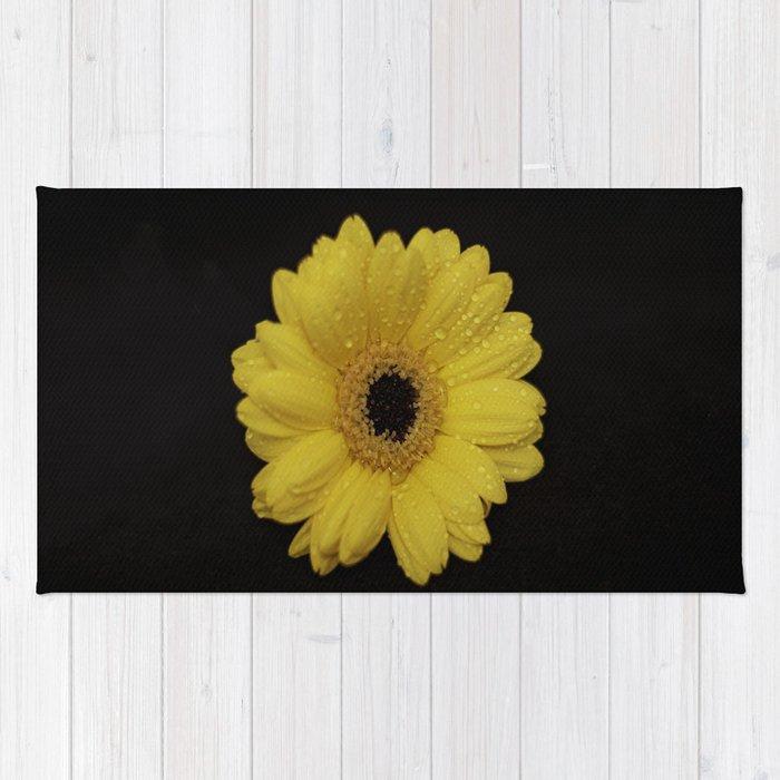 Yellow Gerber Daisy Rug