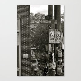 No Street Vendors. Canvas Print