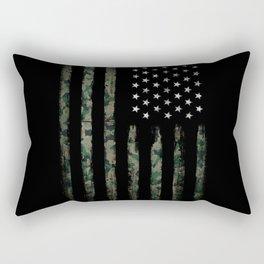 Khaki american flag Rectangular Pillow