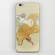 The lady and the lion. iPhone Skin