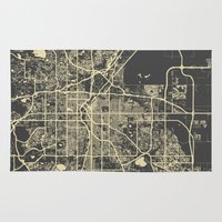 denver Area & Throw Rugs featuring Denver map by Map Map Maps