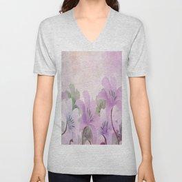 Lavendar Lilies Unisex V-Neck