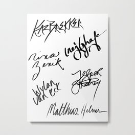 Six of Crows | The Crows Signatures Metal Print