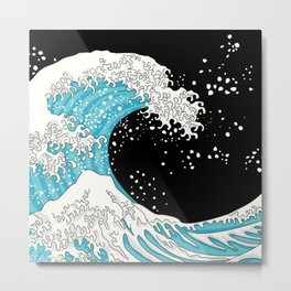The Great Wave (night version) Metal Print