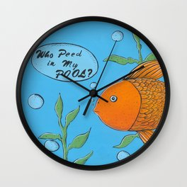 Who Peed In My Pool Wall Clock