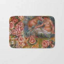 """Auguste Renoir """"Étude De Nus Et De Fleurs"""" Bath Mat"""