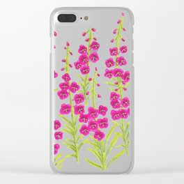 Fireweed Clear iPhone Case