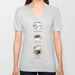 Slow Life Coffee Unisex V-Neck