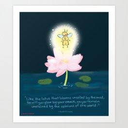 Lotus Firefly Art Print