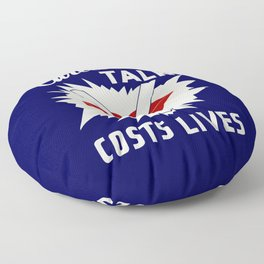 Careless talk costs lives Floor Pillow