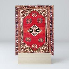 Qashqa'i Kashkuli Fars Southwest Persian Rug Print Mini Art Print
