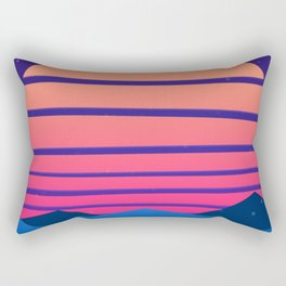 Synthwave Space #13: Twilight horizon (pixelart) Rectangular Pillow