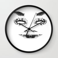 creepy Wall Clocks featuring creepy by karens designs